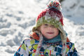 Little 3 Year Old Child  In The Snow Royalty Free Stock Photos - 49496788