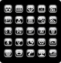 Web And Media Icon Set Royalty Free Stock Photo - 4950395