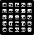 Web And Media Icon Set Royalty Free Stock Photos - 4950538