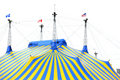 Yellow And Blue Circus Tent Stock Photo - 4959090