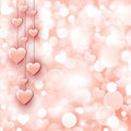Background With Beautiful Pink Hearts Stock Image - 49504661