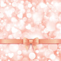 Holiday Background With Gift Pink Bow And Ribbon. Stock Photo - 49505100