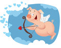 Cupid Pig Vector Funny Cartoon Royalty Free Stock Photography - 49510367