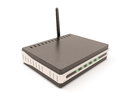 Wireless Router Isolated On White. Royalty Free Stock Photography - 49511657