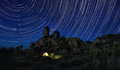 Long Exposure Star Trails In Joshua Tree National Park Stock Photos - 49527223