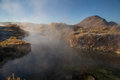 Steam Rising From A Hot Springs Pool Royalty Free Stock Images - 49533149