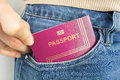 With My Passport In My Pocket Royalty Free Stock Photography - 49540567