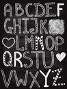 Vector Hand Drawn Chalk Letters Royalty Free Stock Photo - 49557935