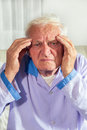 Man With Headache In Hospital Royalty Free Stock Photography - 49560037