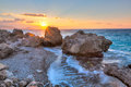 Rhodes Greece Sunset Stock Photography - 49561992