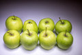Eight Green Apples Stock Photo - 49562090