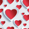 Valentine S Day Seamless Pattern, 3d Hearts Royalty Free Stock Photos - 49565558