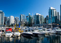 Vancouver Boats And Skyline Royalty Free Stock Photos - 49568858