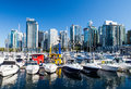 Vancouver Boats And Skyline Royalty Free Stock Photo - 49568865