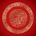 Chinese Vintage Elements On Classic Red Background Stock Images - 49574294