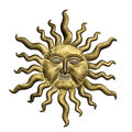 Sun Face With Clipping Path. Isolated On White Background. Stock Image - 49577211