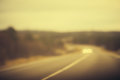 Road Track And Cars Headlights Background Blurred Royalty Free Stock Photos - 49579618