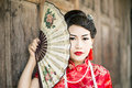 Chinese Woman Red Dress Traditional Cheongsam Royalty Free Stock Images - 49580089