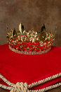 Royal Crown On Pillow Stock Image - 49581371