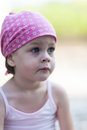 Cute Little Pensive Girl Looking For Someone Or Something Royalty Free Stock Photo - 49583305