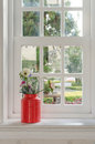Vase Of Flower With Window Frame Royalty Free Stock Photography - 49587237