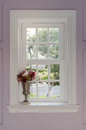 Vase Of Flower With Window Frame Stock Photo - 49587260