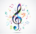 Abstract Background Colorful Music Notes Royalty Free Stock Photos - 49587898
