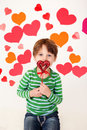 Valentine S Day Hearts And Kids Fun Royalty Free Stock Image - 49597566