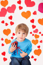 Valentine S Day And Hearts: Kids Fun Royalty Free Stock Images - 49597569