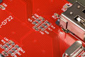 Red Circuit Board Stock Images - 4960794