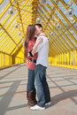 Young Pair Kisses Stock Photography - 4963322
