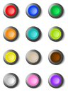 Set Of Colorful Round Buttons Royalty Free Stock Photos - 49602098