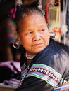 Old Thai Woman With Large Earings Stock Image - 49606111