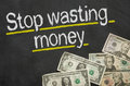 Stop Wasting Money Royalty Free Stock Image - 49612146