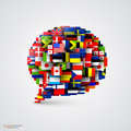 World Flags In Form Of Speech Bubble Stock Images - 49616164