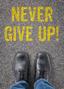 Never Give Up Stock Image - 49618651