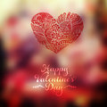 Vector Heart Blurred Template. Invitation Card In A Tribal Style Stock Images - 49619414