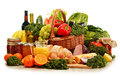 Wicker Basket With Assorted Organic Vegetables And Fruits Royalty Free Stock Photos - 49629148