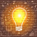 Light Bulb With Drawing Business Success Strategy Stock Images - 49629194