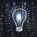 Light Bulb With Drawing Business Success Strategy Royalty Free Stock Photography - 49629197