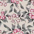 Seamless Floral Retro Pattern Background Flowers Ornament Textil Royalty Free Stock Photography - 49630997