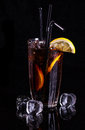 Glass Of Cola With Ice And Lemon. Royalty Free Stock Images - 49633679
