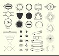 Set Of Vintage Elements For Making Logos, Badges And Labels Royalty Free Stock Photo - 49637835