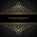 Vintage Gold Lacy Background Royalty Free Stock Photography - 49652317