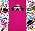 Celebration Festive Background With Carnival Icons And Objects. Royalty Free Stock Photos - 49661148
