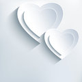 Modern Grey Background With White Paper 3d Hearts Stock Photos - 49663773