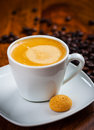 Cup Of Coffee With Beans Stock Photo - 49669440
