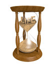 Time Passing As Sand In An Old Hourglass Trickles Down And Life Runs Out Stock Photos - 49674273