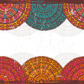 Hand Drawn  Lace Mandalas  Ethnic  Seamless Border Royalty Free Stock Images - 49683949