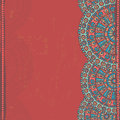 Hand Drawn  Openwork  Ethnic  Seamless Border Royalty Free Stock Images - 49684039